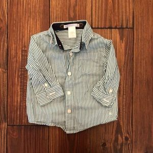 Striped Boys long sleeve button up